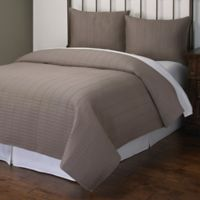 Norris King Quilt Set in Grey
