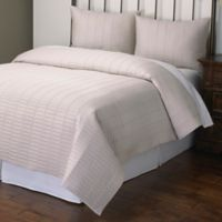 Norris King Quilt Set in Ivory