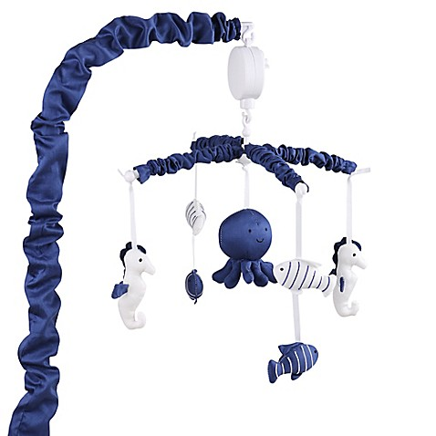 The Peanut Shell 174 Nautical Musical Mobile In Navy Buybuy