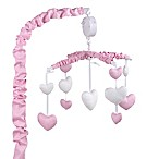 The Peanut Shell® Hearts Musical Mobile in Pink