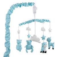 The Peanut Shell® Woodland Musical Mobile in Teal