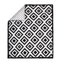 The Peanut Shell® Tile Quilt in Black/White