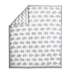 The Peanut Shell® Elephant Quilt in Grey