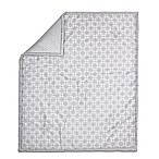 The Peanut Shell® Geometric Quilt in Grey
