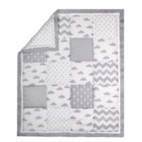 The Peanut Shell® Cloud Patchwork Quilt in Grey