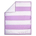 The Peanut Shell Triangle Stripe Quilt in Purple