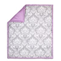 The Peanut Shell® Damask Quilt in Purple/Grey