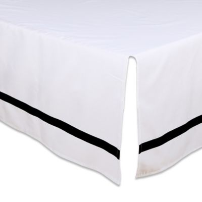 the peanut shell crib skirt in blackwhite