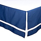 The Peanut Shell® Solid Crib Skirt in Navy
