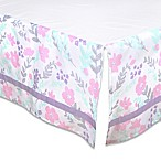 The Peanut Shell® Floral Crib Skirt in Pink/Mint