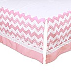 The Peanut Shell® Chevron Crib Skirt in Pink