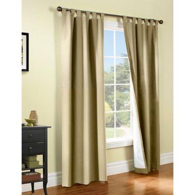 Thermalogic® Weathermate 54 Inch Tab Top Window Curtain Panel Pair In Khaki