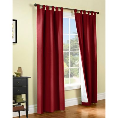 ThermalogicR Weathermate 63 Inch Tab Top Window Curtain Panel Pair In Burgundy