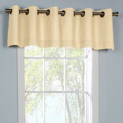 thermalogic weathermate grommet top window valance in natural