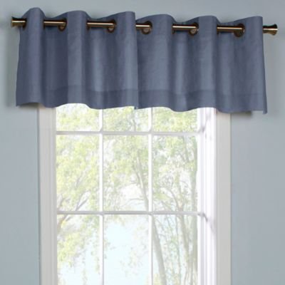 Thermalogic® Weathermate Grommet Top Window Valance in Blue
