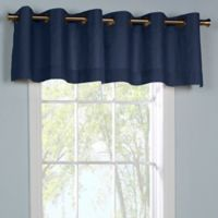 Thermalogic® Weathermate Grommet Top Window Valance in Navy