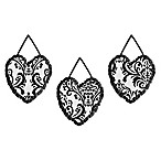 Sweet Jojo Designs Isabella 3-Piece Wall Hanging Set  in Black/White