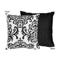 Sweet Jojo Designs Isabella Throw Pillow in Black/White