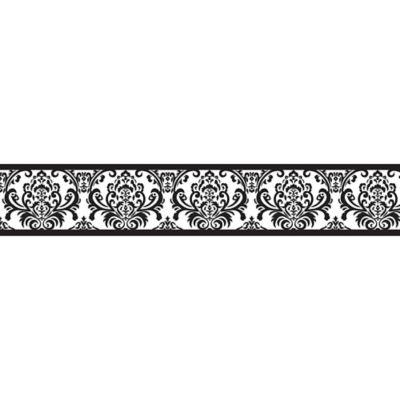 Sweet Jojo Designs Isabella Wallpaper Border In Black White