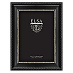 Elsa L. 5-Inch x 7-Inch Rope Picture Frame in Black