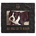 Grasslands Road™ 4-Inch x 6-Inch Cement Dog Memorial Picture Frame in Black