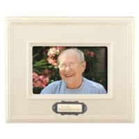 Grasslands Road™ 4-Inch x 6-Inch Ceramic Memorial Picture Frame in Ivory