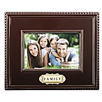 "Grasslands Road® 4-Inch x 6-Inch ""Family"" Picture Frame in Brown"
