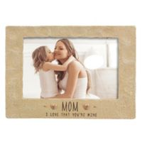 """Grasslands Road® 4-Inch x 6-Inch """"Mom"""" Cement Picture Frame"""