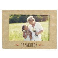 Grasslands Road™ 4-Inch x 6-Inch Cement Grandkids Picture Frame in Beige
