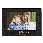 "Grasslands Road® 4-Inch x 6-Inch ""Dad"" Cement Picture Frame in Black"