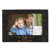 """Grasslands Road® 4-Inch x 6-Inch """"Dad"""" Cement Picture Frame in Black"""
