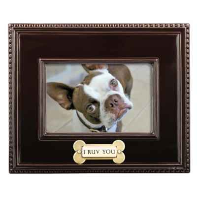 "Grasslands Road® 4-Inch x 6-Inch ""I Ruv You"" Picture Frame in Brown"