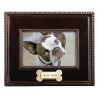 """Grasslands Road® 4-Inch x 6-Inch """"I Ruv You"""" Picture Frame in Brown"""