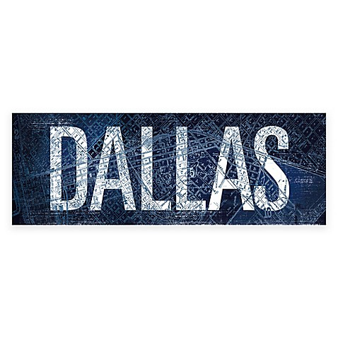 Dallas blueprint gicle canvas wall art bed bath beyond dallas blueprint gicle canvas wall art bed bath beyond malvernweather Gallery