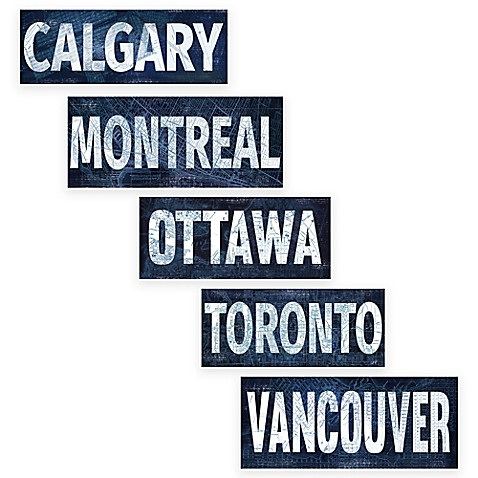 Canadian Cities Blueprint Canvas Wall Art Collection