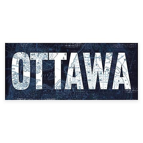Ottawa blueprint canvas wall art bed bath beyond ottawa blueprint canvas wall art bed bath beyond malvernweather Gallery