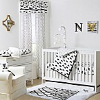 The Peanut Shell® Clouds 4-Piece Crib Bedding Set in Black/White