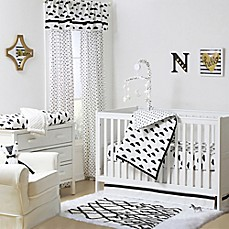The Peanut Shell 174 Clouds Crib Bedding Collection Black