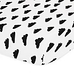 The Peanut Shell® Clouds Fitted Crib Sheet in Black/White
