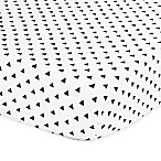 The Peanut Shell® Triangle Fitted Crib Sheet in Black/White