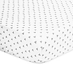 The Peanut Shell® Triangle Fitted Crib Sheet in Grey