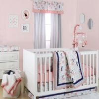The Peanut Shell® Floral 4-Piece Crib Bedding Set in Coral