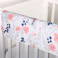 The Peanut Shell® Floral Crib Rail Guard in Coral