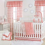 The Peanut Shell® Pintucked 4-Piece Crib Bedding Set in Coral