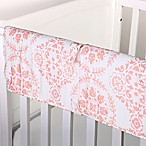 The Peanut Shell® Medallions Crib Rail Guard in Coral