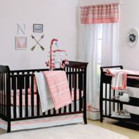 The Peanut Shell® Tribal 4-Piece Crib Set in Coral