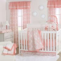 The Peanut Shell® Medallions 4-Piece Crib Set in Coral