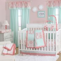 The Peanut Shell® Medallion 4-Piece Crib Set in Coral/Mint