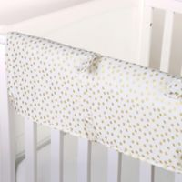 The Peanut Shell® Confetti Crib Rail Guard in Gold