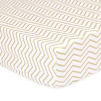 The Peanut Shell® Chevron Fitted Crib Sheet in Gold